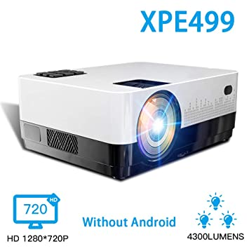 Proyector Led HD 1280 * 728p Android 6.1 Os 4300 lúmenes Proyector ...