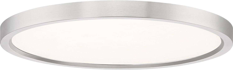 Quoizel Ost1715bn Outskirt Modern Super Flush Mount Ceiling Lighting 1 Light Led 30 Watts Brushed Nickel 1 H X 15 W