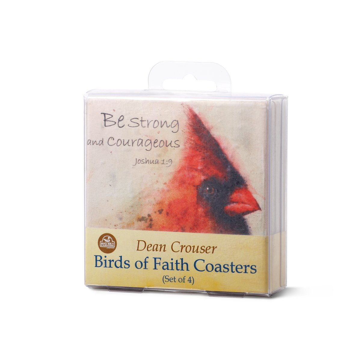 Birds of Faith Watercolor 4 x 4 Absorbent Ceramic and Cork Coasters Set of 4 Demdaco 3005050612