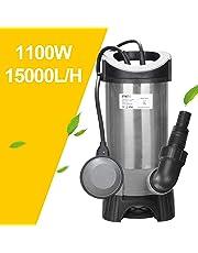 vingo 1100W Bomba Sumergible Aguas sucias (máx. 15,000 l/h, Cabeza máxima