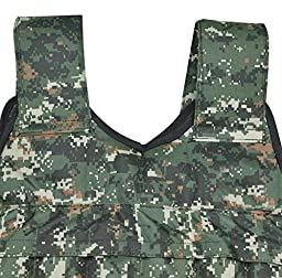 Yaheetech 44lbs Adjustable Weighted Vest Camouflage Workout Weight Vest Training Fitness