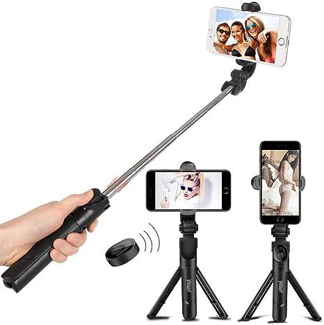 ELEGIANT Palo Selfie M/óvil Stick Bluetooth con Tr/ípode Robusto para Autofoto Extensible de Control Remoto 3 en 1 Monopod Obturador Deportivo Rotaci/ón 360 Grados/para iPhone XS Samsung Huawei Xiaomi