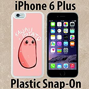 Kawaii Potato Custom made Case/Cover/skin FOR iPhone 6 PLUS -White- Plastic Snap On Case ( Ship From CA)