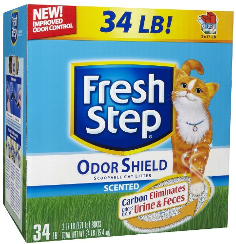 Fresh Step Odor Shield Scoopable Scented Litter – 34 lb, My Pet Supplies