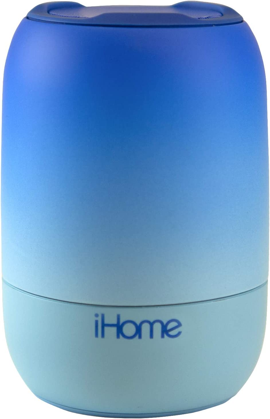 iHome PlayFade Portable Bluetooth Speaker - Water-Resistant Rechargeable Audio Device for Outdoor Events, Pool Party, Beach, Camping (Model iBT400L) Blue
