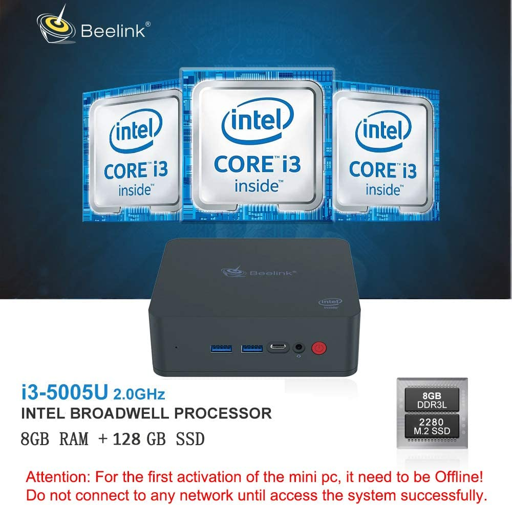 Beelink U55 Mini PC Ordenador de Sobremesa con CPU Intel Core i3 ...