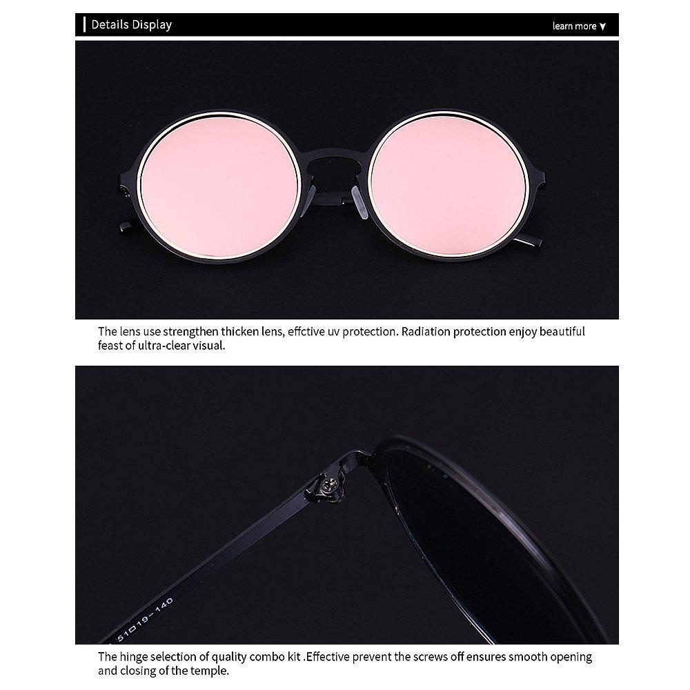 Nuevas gafas de sol Marco punky del estilo del metal gafas de sol polarizadas unisex de la protección ULTRAVIOLETA para las mujeres de los hombres al aire ...