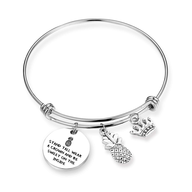 EIGSO Pineapple Bracelet Inspirational Pineapple Jewelry Tropical Jewelry Gift BBF Bracelet frishipend Bracelet Bridesmaid Bracelet