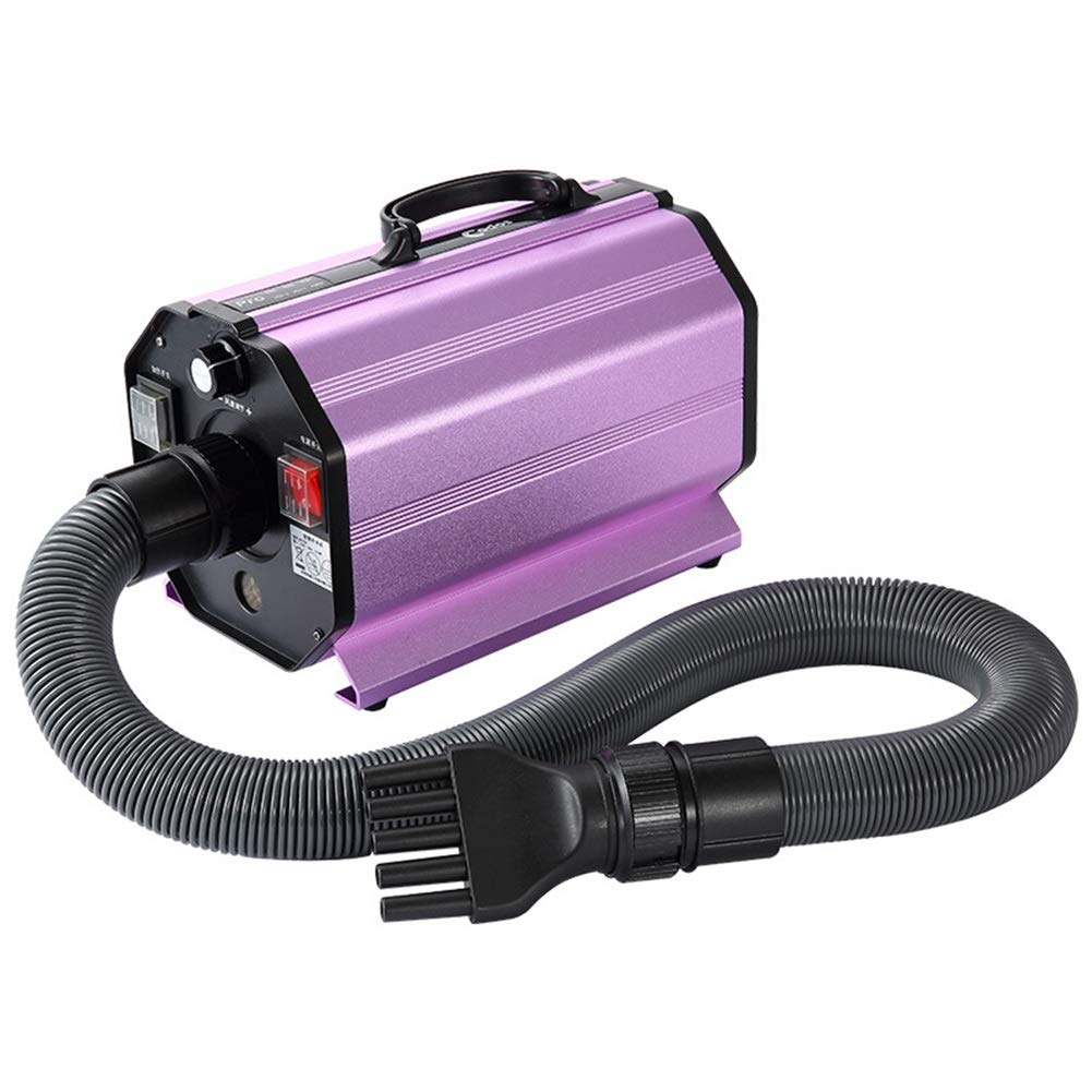 1600w Pet Hair Dryer with Hose Handle Filter Stretchable Pet Water Blower Diffuser High Power Stepless Speed and 2 Heat Settings (color   1600w)