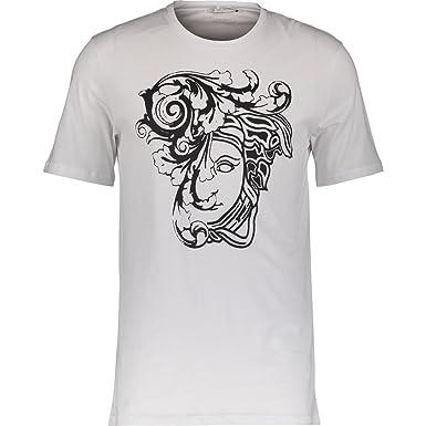 fda243d58 VERSACE COLLECTION Girocollo Graphic Print T-Shirt (XX-Large, White):  Amazon.co.uk: Clothing