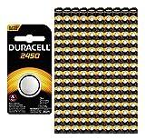 150-Pack Duracell 2450 Batteries 3.0 Volt Lithium Coin Button