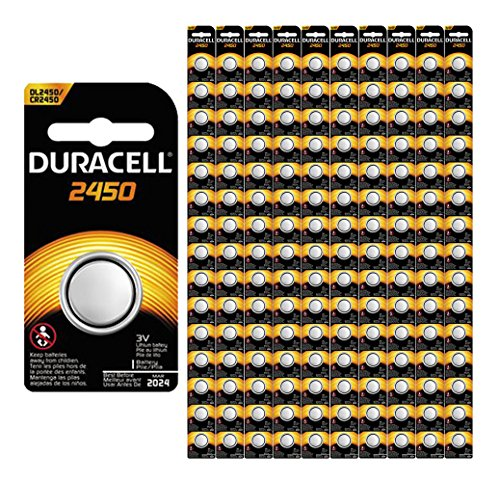 150-Pack Duracell 2450 Batteries 3.0 Volt Lithium Coin Button by Duracell