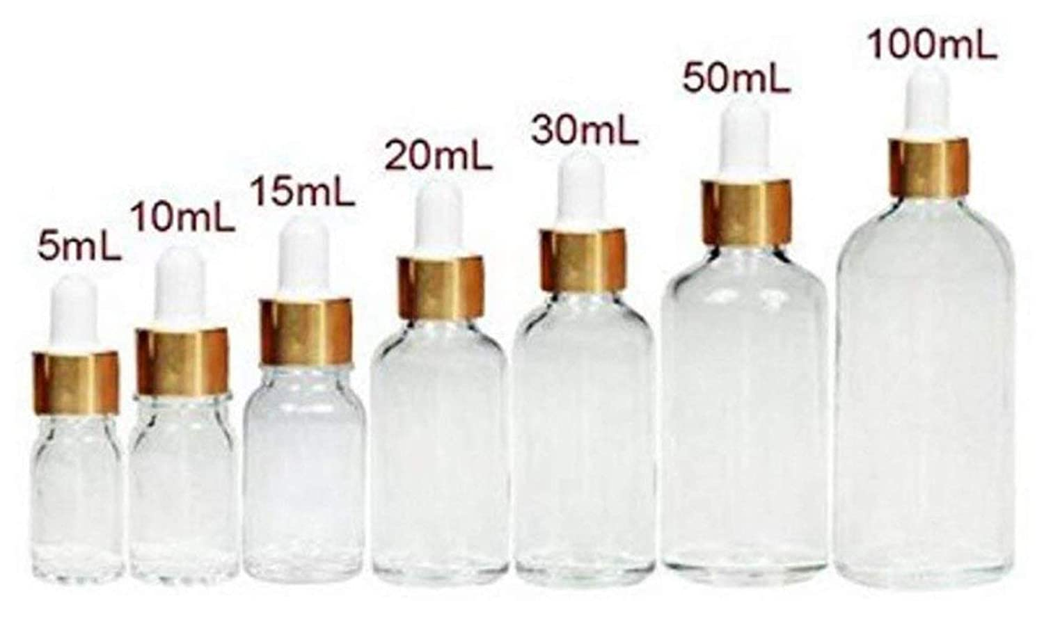6pcs空ガラス詰め替え可能クリアEssential Oil Eye Dropper Cosmetic香水ボトルJar Vial Droppingコンテナwith Pipettes (30ml/1oz)   B077YWCSPZ