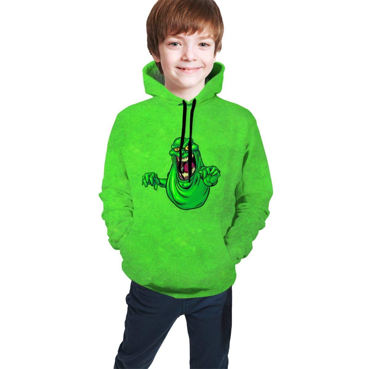 ASDDndPK Kids Youth 3D Print Slimer-Cool Pullover Hooded Sweatshirt