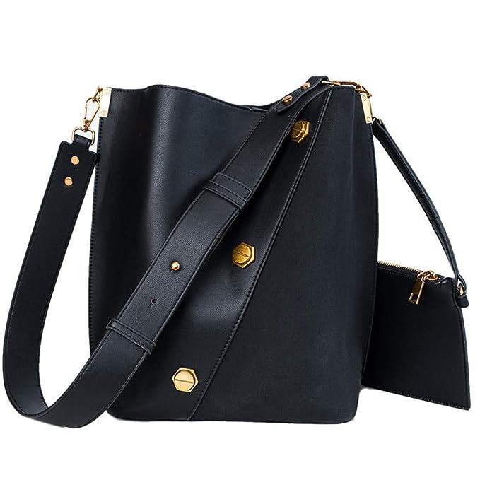 Amazon.com: Bolsas de cuero sintético para mujer, grandes ...