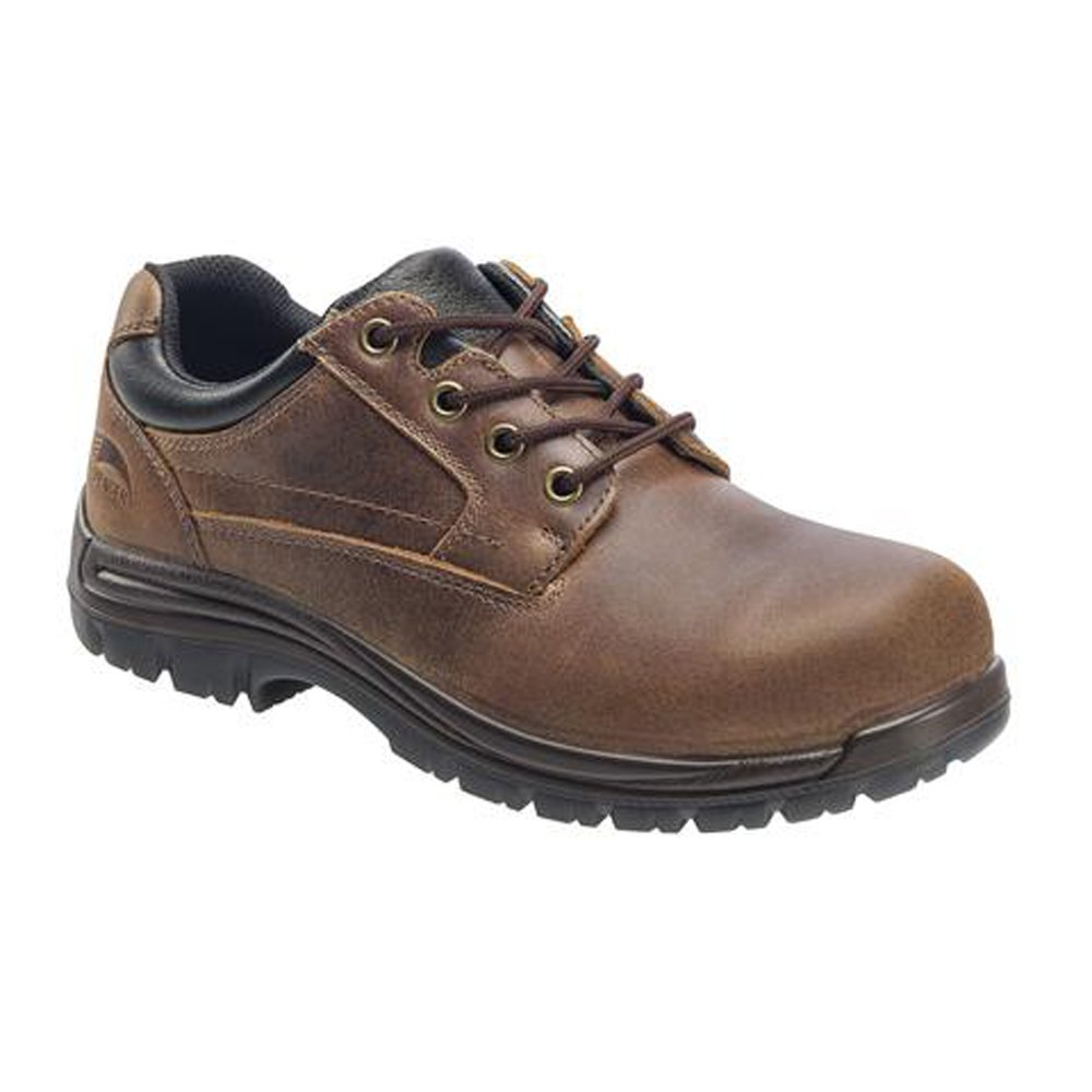 Avenger Mens Comp Toe EH Work Oxford M Brown Leather Shoes 10.5 M