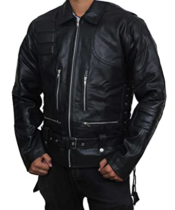 Terminator 3 rise of the machines real black leather biker jacket at fjackets terminator 3 rise of the machines outerwear attire black leather jacket xs thecheapjerseys Choice Image