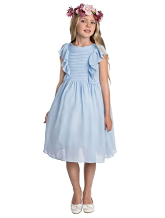 Paisley of London, Elsa Blue Occasion Dress, Formal Flower Girls Dress, 2-