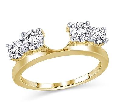 Amazon Com 1 Cttw Four Stone Diamond Solitaire Ring Enhancer Band