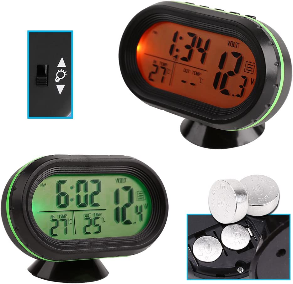 Auto Kfz Digital Uhr Lcd Thermometer Spannungstester Voltmeter 12v Multifunktion Auto
