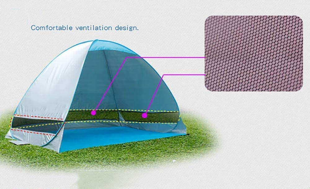 Op up Beach Tent Automatic Zon Shelter 2 Personen Portable Easy Set up100% Water Resistant 50+ UV-bescherming Inclusief Carry Travel Bag Outdoor Activities liuchang20 (Color : G) A