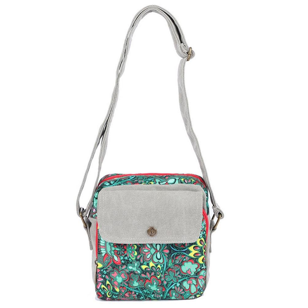 BLACK BUTTERFLY Women 's new leisure fashion canvas printed Messenger bag shoulder bag
