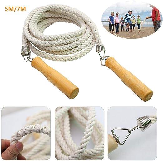 jaspenybow – Cuerda de Saltar Holandesa Doble, 5 m/7 m, de algodón ...