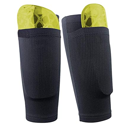 Dokpav Fútbol Espinilleras Doble Capa Calcetines Fijo Manga, Soccer Shin Guard Sleeves Medias elásticas Calcetines