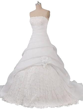 Lemandy Robe De Mariee Princesse Tulle Paillete Fleurs