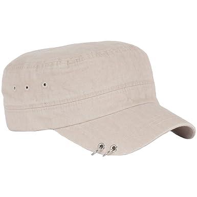 unisex punk silver ring design piercing rock army cap cadet military hat beige baseball charm quiksilver caps uk