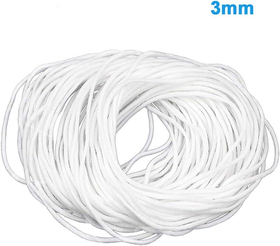 elastisches Seil//elastisches Band 2,5 mm // 3 mm, wei/ß Balai 2020 NEUESTE 100 m Ohrgurtseil//elastisches Ohrseil//elastisches Seil//elastisches Band