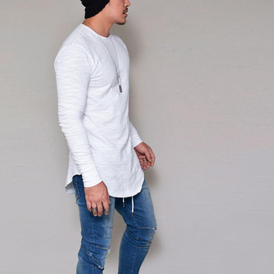 Toamen Hombres camiseta Slim Fit O Neck Long Sleeve Muscle Tee Tops Casual Blusa: Amazon.es: Ropa y accesorios