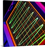 Canvas On Demand Premium Thick-Wrap Canvas Wall Art Print entitled Oscilloscope showing voltage/time trace