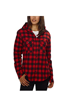 Boston Traders Women's Red Buffalo Check Button Down Shirt Jacket ...