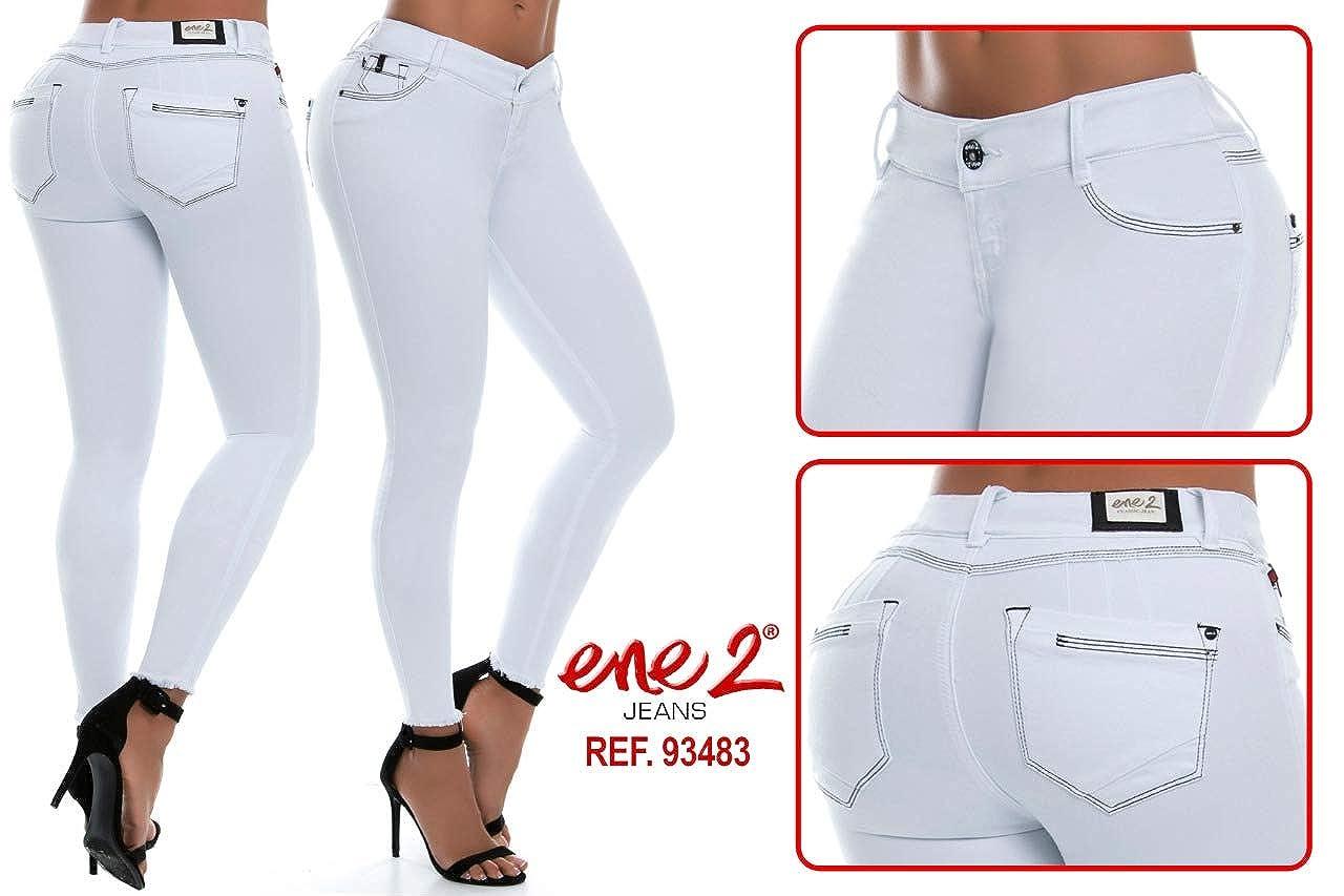 fdc810e2ce46d ENE2 Colombian Push up Jeans Pantalon Levanta Cola Colombiano Size 7-8 at  Amazon Women s Jeans store