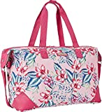 Ninewest Luggage Travel Duffle Carry On Overnight Bag Duffel, Pink Aloha Floral One Size