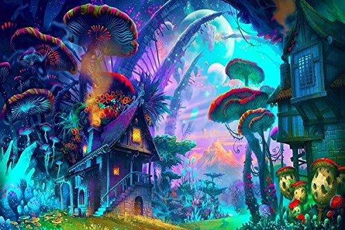 Tomorrow sunny fantasy art drawing nature psychedelic