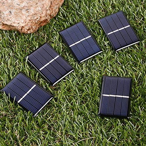 Z.L.FFLZ Mini Solar-Panel 5pc / Lot beweglicher Sonnenkollektor polykristalliner Solarzellen-Panel for Batterie-Handy-Ladegeräte 0.28W 2V 140mA