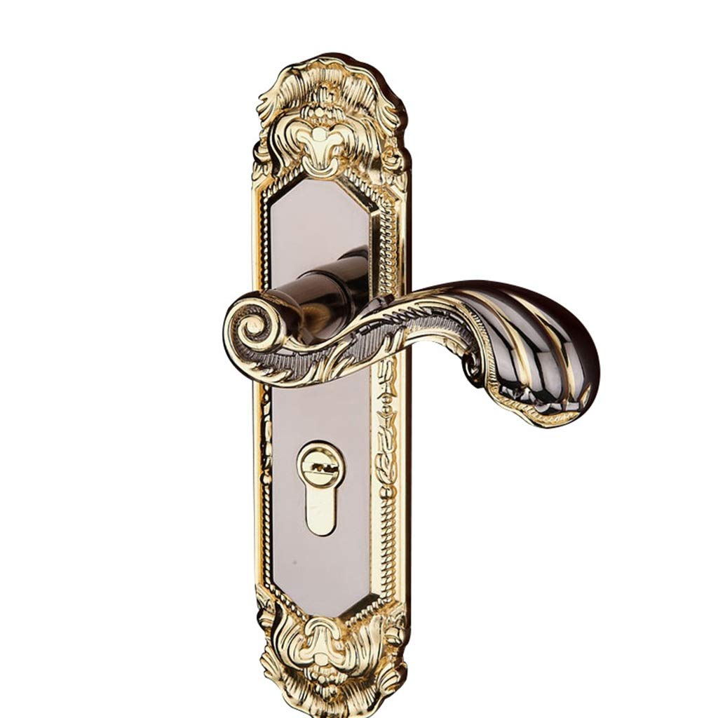 The End of the Desert Household Door Handle Gold Bedroom Inner Bearing Lock Handle Lock Door Handle Door Lock