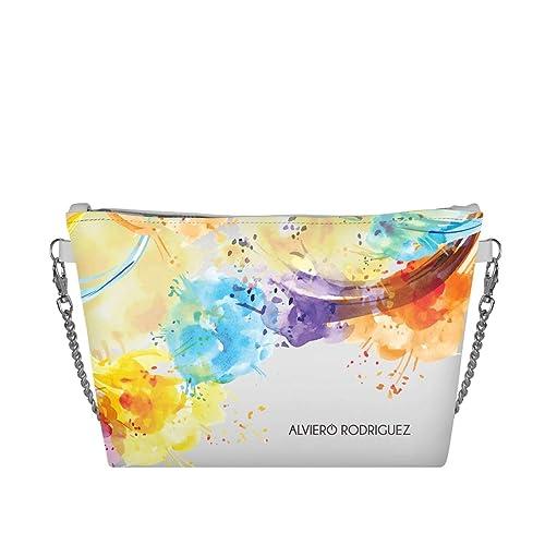 Borsa Bianca Rodriguez Colorart Bag Alviero Colori Donna Fumo Diva zMpULqSVG