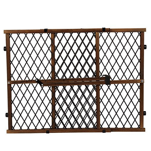 - Evenflo Position and Lock Farmhouse Pressure Mount Gate, Dark Wood