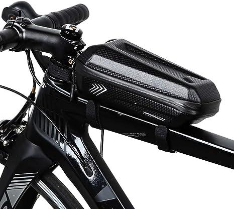 Plapu Bolsa Manillar Bicicleta Impermeable, Bolsa Cuadro Bicicleta ...