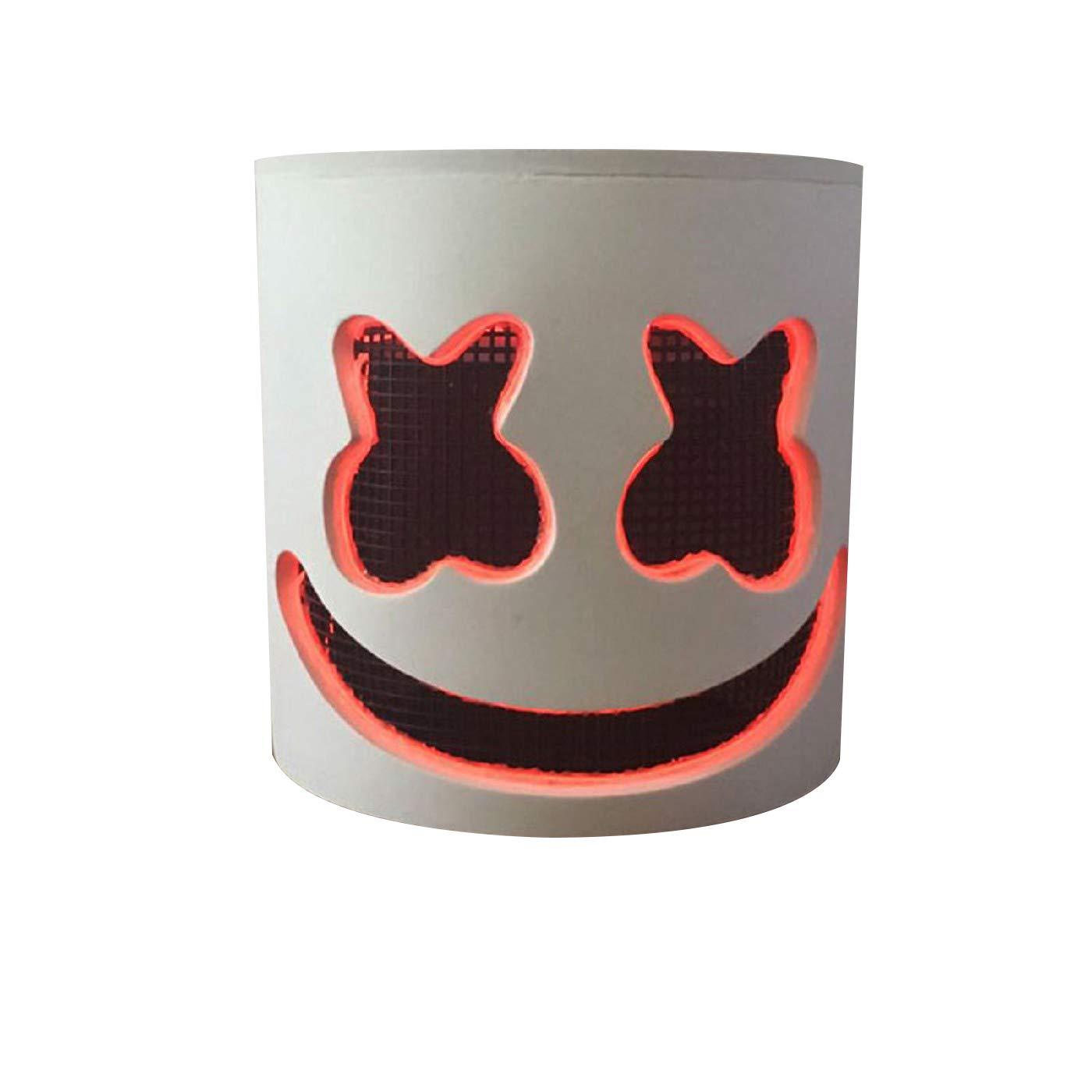SBTD DJ Maske, Musik Festival Maske Led DJ Maske Festival Helme Neuheit Partei Maske Gummi Latex Cosplay Bar KTV Requisiten (Muster 14) 5c190a