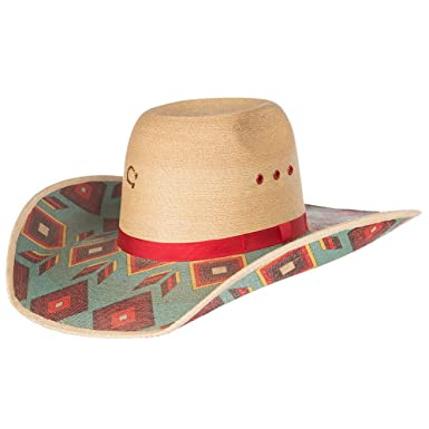 3133ed3f71950 Charlie 1 Horse Cowgirl Outlaw Palm Leaf Ladies Cowboy Hat at Amazon ...