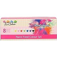 FunCakes FunColours Set de 8 Colorantes Concentrados Alimenticios en Pasta para Hornear, Decorar, Glasear, Fondant, 8…