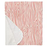 Carousel Designs Light Coral Woodgrain Mini Crib Blanket