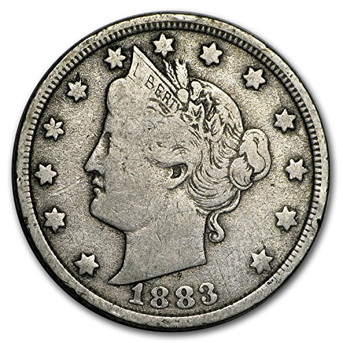 1883 Liberty Head V Nickel VG No Cents Nickel Very, used for sale  Delivered anywhere in USA