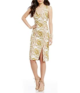 5eac3d0eb6 Gianni Bini Tobie Crepe A-line Floral Embroidered Popover Dress Size ...