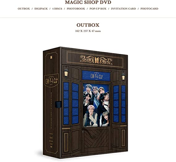 2019 BTS 5th Muster Magic Shop DVD (incluye una foto de acrílico al azar BTS): Amazon.es: Oficina y papelería