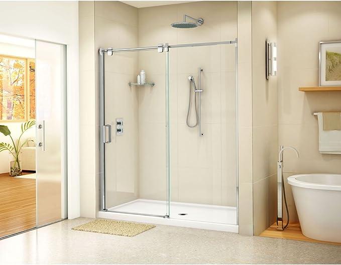 fleurco lg160 – 25 – 40 Glide puerta corredera 60 x 75/de entrada de línea fija Panel BR níquel/Clear: Amazon.es: Bricolaje y herramientas